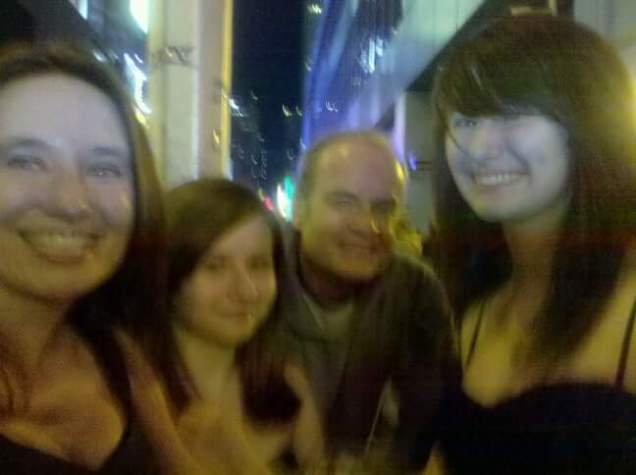 My daughter and granddaughters on Broadway with the actor Kelsey Grammer.