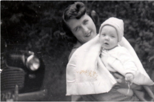 My mother and me, some time in the 1950s.